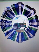 Garden Wind Spinner Designer Farm Tractor Green U.S.A Outdoor Indoor Iron Stop