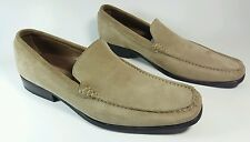 M & S Collezione mens luxury casual tan leather loafers uk 8.5 Eu 42.5
