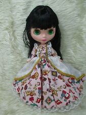 Big Head Blythe Clone 4 Color Changing Eyes Basaak Doll - black hair
