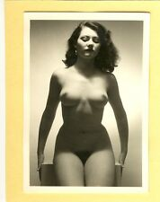 "D297 # Photo c.1960 PIN-UP GIRL NUDE NUDO NU atto NUDO SENO studio ""agfa lupex"""