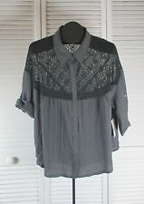 Women's Tops & Blouses Free People NWT Lace Top - Large Washed Black (style CAD)