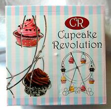 Cupcake Revolution - Chrome Finish Rotating Ferris Wheel Cupcake Stand