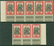 BELGIAN CONGO : 1948. Scott #256. 8 stamps all with lathe-work. VF MNH. Cat $96