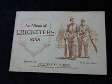 1938 John Player Cigarette Card Album of Cricketers complete with 50 Cards