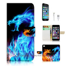 iPhone 6 / 6S (4.7') Flip Wallet Case Cover! P0428 Flame and Froze