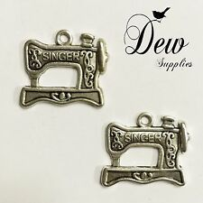 10 x Sewing Machine Singer Pendants Charm pendant bead charm, silver color