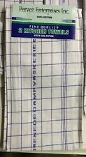 "10 Kitchen Dish Towels 19""x39"" Blue And White New Wholesale"