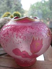 """remarquable vase""""ART NOUVEAU"""" verre  dégagé à l'acide  T  Legras?"""