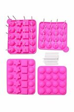 Juvale Silicone Easter Chocolate Lollipop Sucker Mold Set Hard Candy Heat Resist