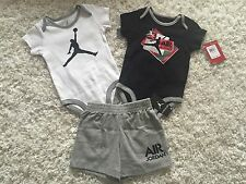 Nike Jordan Jumpman Infant Boys One Piece Body Suit Shorts Black NWT 9-12 Months
