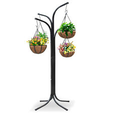 Plant Stand Hanging Holder Basket Patio Outdoor Flower Decor Garden Planter Gift