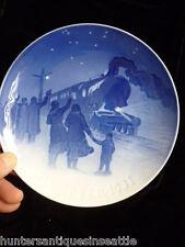 """Bing & Grondahl / B&G 1931 Christmas Plate """"Arrival Of Christmas Train"""""""