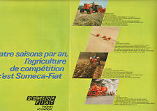 Publicité Advertising 1970  ( Double page )  SOMECA FIAT tracteurs