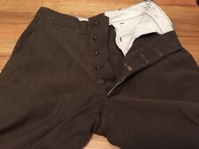 Vintage 1945's WWII US Army Official Trousers Field Wool Serge Uniform Pants.