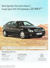 PUBLICITE ADVERTISING 066  2006  Mercedes-Benz  série spéciale  classe C