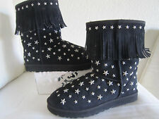 UGG AUSTRALIA JIMMY CHOO BLACK  STARLIT STUDDED BOOTS  LIMITED EDITION  SZ 11