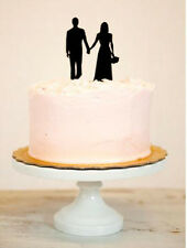 Groom and bride hand in hand acrylic cake topper wedding party decoration