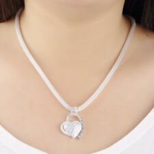 New Fashion 925 Sterling Silver Charm Heart Pendant women Necklace box