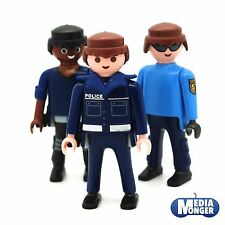 Playmobil ® 3 x base personnage: internationale sous couverture police | police | équipe