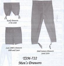 Timeless Stitches MEN'S DRAWER'S (UNDERWEAR) Pattern #722 Multi-SZ Sm to X-L