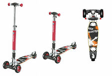 LA Sport Maxi Street Board Three Wheel T Bar Tri Scooter Kickboard for Adults