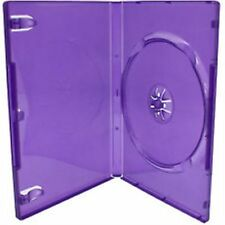 1 Single Standard Purple DVD Case 14 mm Spine New Empty Replacement Cover HQ AAA