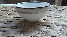 "Wedgwood Martha Stewart By Ribbon Stripe Silver Tea Cup 4.25"" Diameter RRP$29.95"