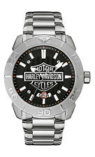 Harley-Davidson® Men's Bulova Bar & Shield Two-Tone Stainless Steel Watch 76B175