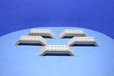 LEGO 5 x Bogenstein althell grau 10x2x2 doppel schräg | oldgrey gray 30180