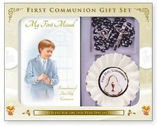 FIRST HOLY COMMUNION Rosette & First Communion Mass Book - Catholic Gifts