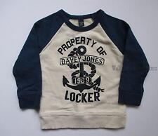 Baby Gap Property of Locker Anchor Raglan Sweatshirt Pullover Top Boy 3T NEW NWT