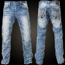 AFFLICTION ACE FLEUR BRENTWOOD MEN'S JEANS STRAIGHT LEG CUSTOM Sz 36 NEW w TAGS