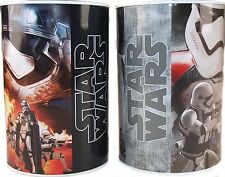 Set of 2 Star Wars Round Money Box Tin Piggy Bank Saving Box Cash Can Tin Box