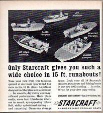 1963 Print Ad Starcraft Boats Saber,Newport,Lancer,Jet Star & Jet Goshen,IN
