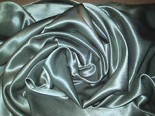 """OLIVE GREEN 100% POLYESTER BACK CREPE SATIN FABRIC 60"""" WIDE BY THE YARD"""