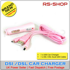USB Car Adapter Charger +  Nintendo DSi or DSL Cable