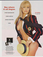 2011 Mint Print ad Pamela Anderson Playboy cover photo See where it all began