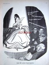 "1965 BBC Censorship Punch Cartoon Print - ""Auntie BBC & the Watch Committee"""