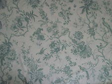 "SANDERSON  CURTAIN FABRIC DESIGN ""Pillemont Toile"" 3.1 METRES CREAM /DUCK EGG"