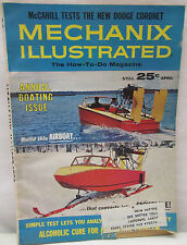 Mechanix Illustrated Magazine April 1965 Boating Issue Build A Airboat Snowplane
