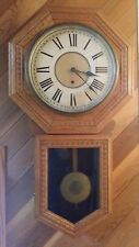 """Antique Sessions """"Eclipse"""" Regulator Wall Clock 12' Dial Keeps Good Time NICE!"""