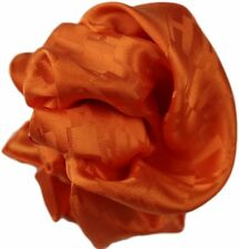 HERMES ORANGE SILK POCKET SQUARE/ HANDKERCHIEF- MADE IN FRANCE