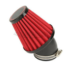 42MM Red Air Filter Cleaner Pod 45 Degree Bend For Motorcycle Scooter ATV