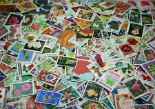 FLOWERS, beautiful collection of 1000 different stamps from all over (Lot #DP)