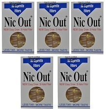 5 PACKS NIC-OUT Cigarette Filters TOTAL 150 tips Cut the Tar Keep the Taste