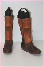 EL NATURALISTA Bottes Cuir Marron Bicolore T 36 BE
