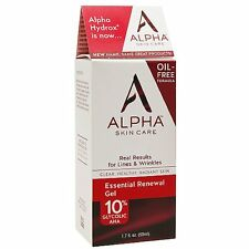 Alpha Skin Care (Alpha hydrox) Face Oil Free Essential Renewal Gel 10% Glycolic