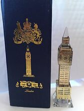 London Big Ben Silver Plated Crystal Glass with changing lights Souvenir Gift