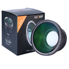 58MM 0.43x HD Super Wide Angle Lens Macro Close up Lens Multilayer coating New