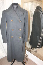 "Blue Military French Officers coat - Ditsy Vintage 1948 - 44"" Size 3 122cm 1940s"